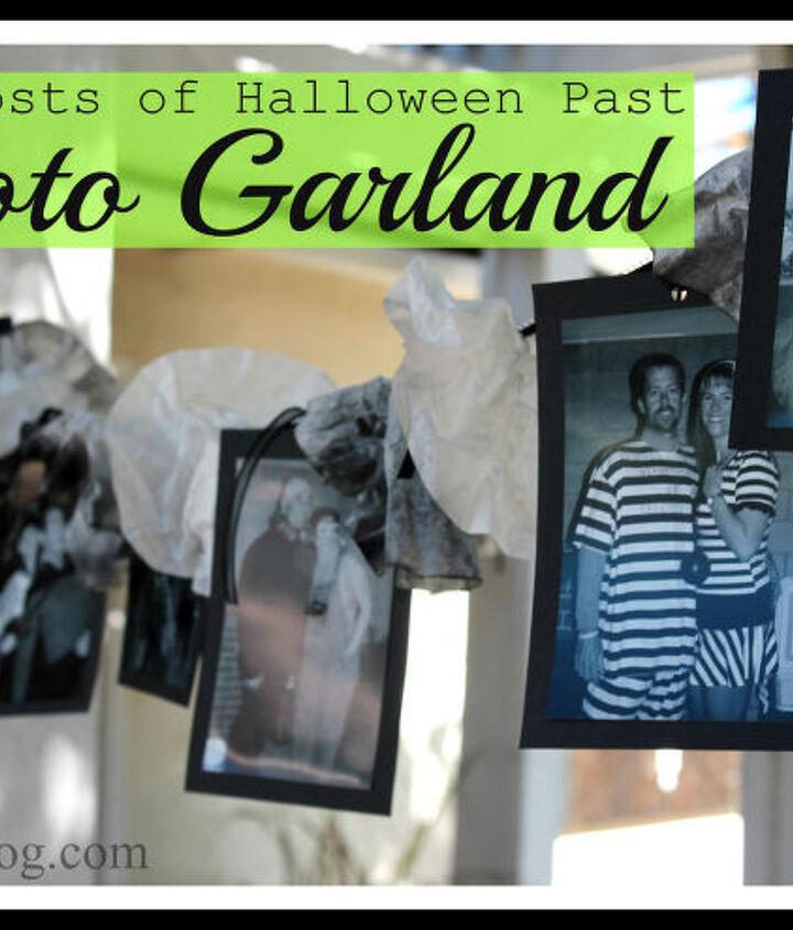 a halloween photo garland, crafts, halloween decorations, seasonal holiday decor
