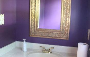 bathroom makeover painting floors redo