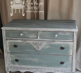 Working With Milk Paint, Painted Furniture, MMS Iron Stone And A OFMP Sea  Green