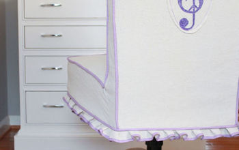 Drop cloth slip gives new life to a chair