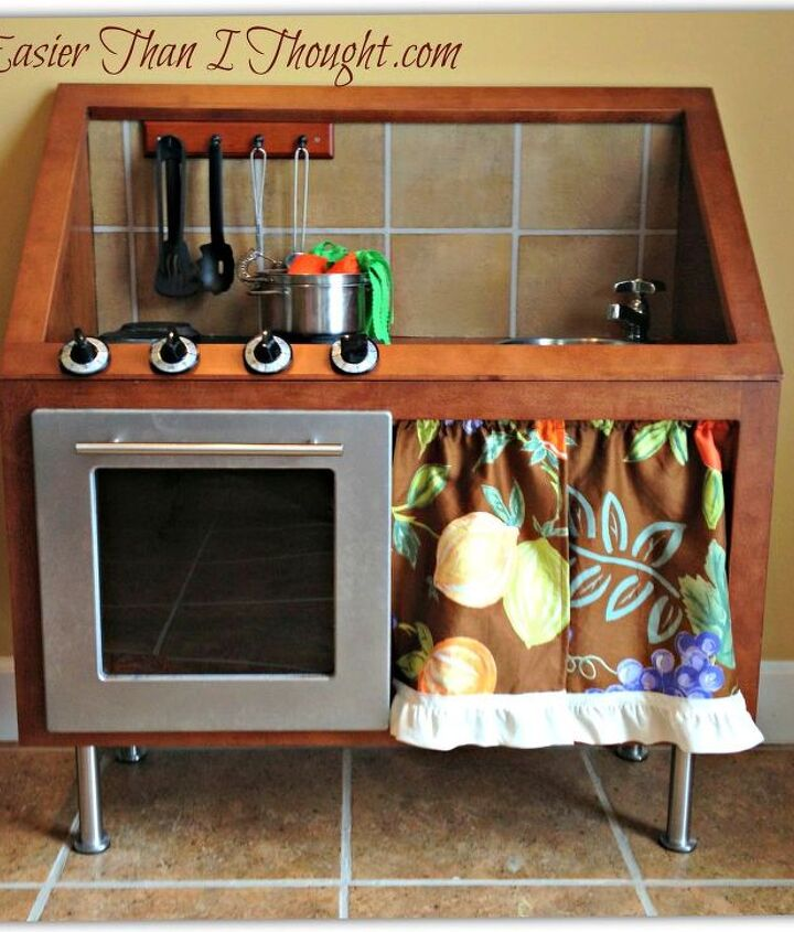 heirloom quality play kitchen, painted furniture