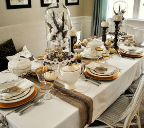 Delicieux Rustic Glam Thanksgiving Table Setting, Christmas Decorations, Seasonal  Holiday D Cor, Thanksgiving Decorations. Dining Room ...