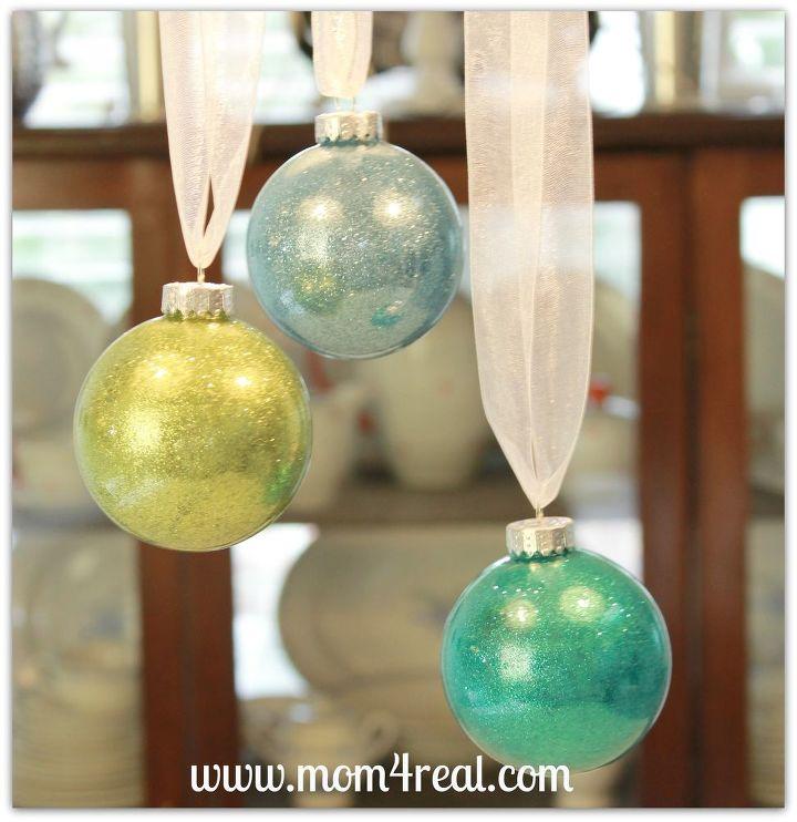 Glitter Filled Glass Ornaments (tutorial)
