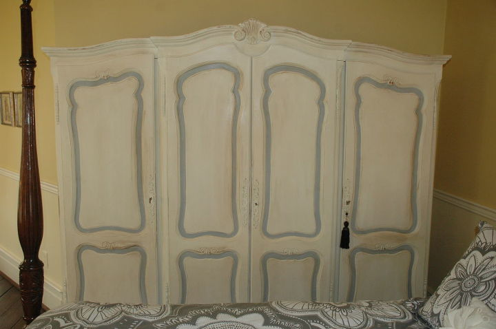 painted olde white and paris grey from Annie Sloan chalk paint