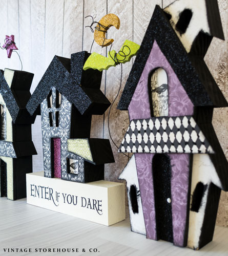 cute haunted house trio craft hometalk