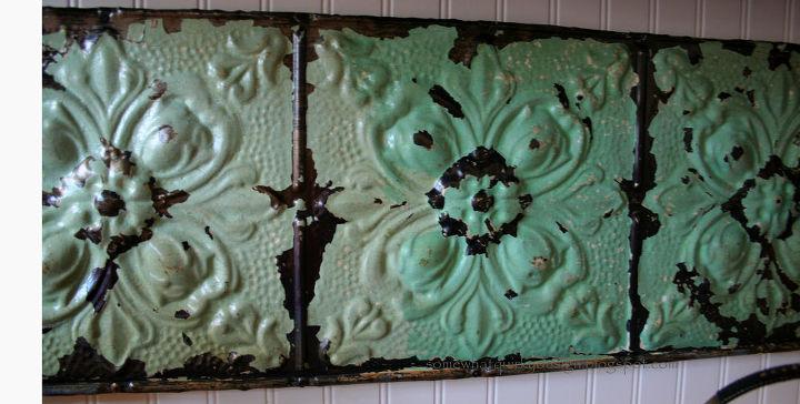 make a fresh back splash with old ceiling tiles, kitchen backsplashes, tiling