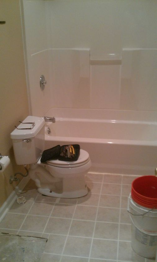 Another Bath Remodel. Took out the bathtub and installed a stand up ...