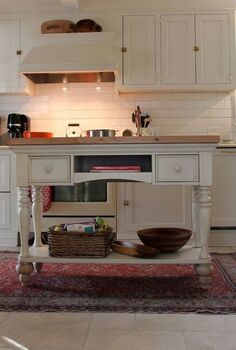 diy kitchen island, home decor, kitchen design, kitchen island, DIY Island from Sofa Table