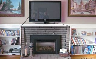 q would it devalue my fireplace to paint it out in white it is currently gray brick, concrete masonry, fireplaces mantels, painting, My fireplace in question