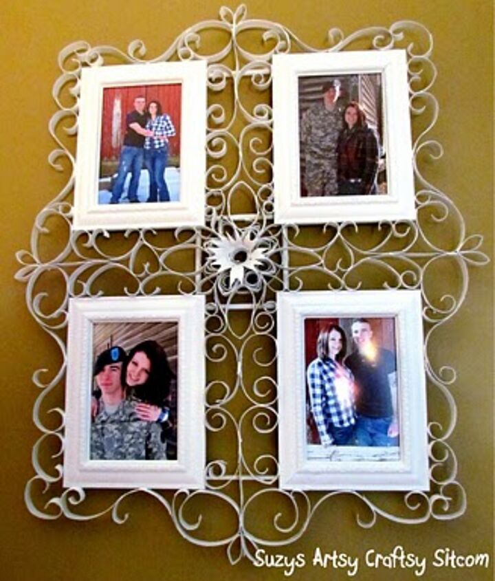 Faux filigree frame from toilet paper tubes