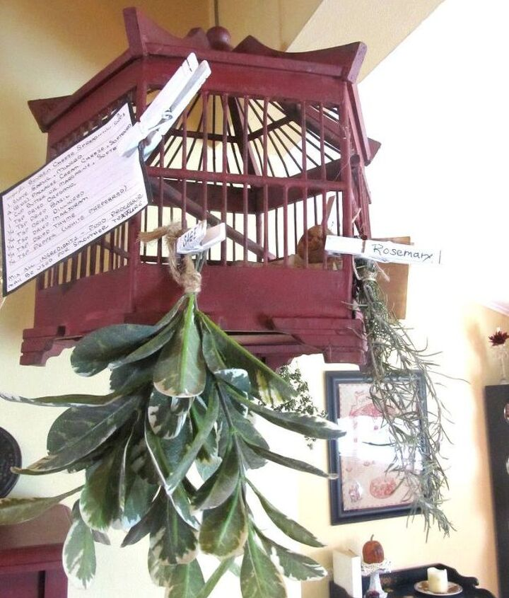 another use for a bird cage, organizing, repurposing upcycling