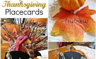 easy ideas for thanksgiving place cards, crafts, thanksgiving decorations, Easy Thanksgiving Place Cards