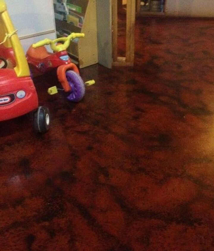 I really wanted these toys to be in the photo.  You can see just how nice this floodproof basement flooring solution can turn out.