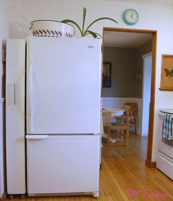 diy space saving rolling kitchen pantry, closet, diy, kitchen design, organizing, storage ideas
