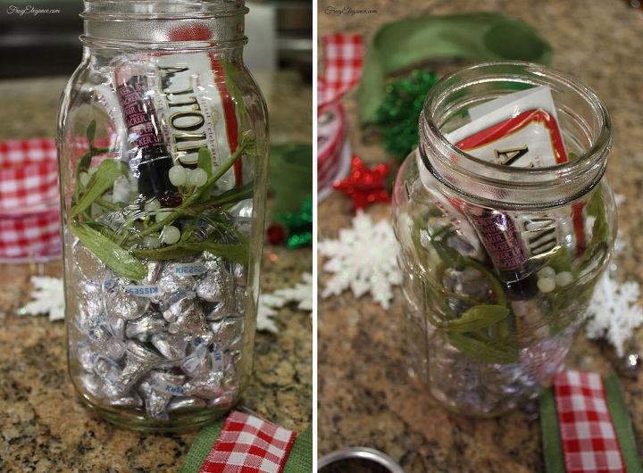 mason jar gift christmas kiss kit hometalk