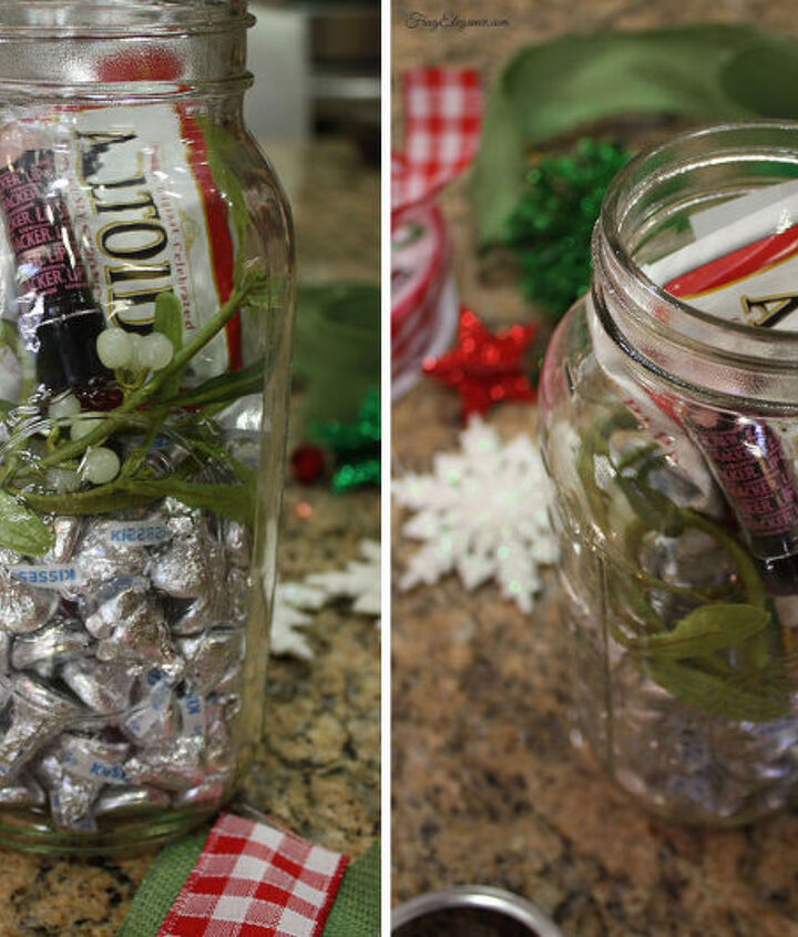 how to mason jar christmas gift kit, christmas decorations, mason jars, repurposing upcycling, seasonal holiday decor