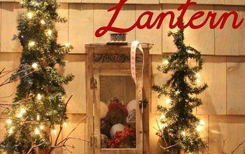 diy snowballs amp a christmas lantern, crafts, seasonal holiday decor