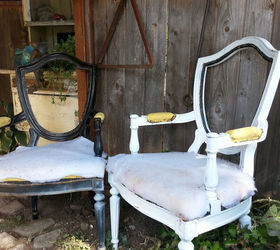 Chair Upholstery Makeover, Painted Furniture, Reupholster