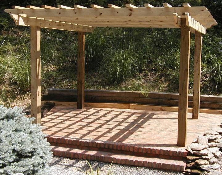pergola and brick patio - Pergola And Brick Patio Hometalk
