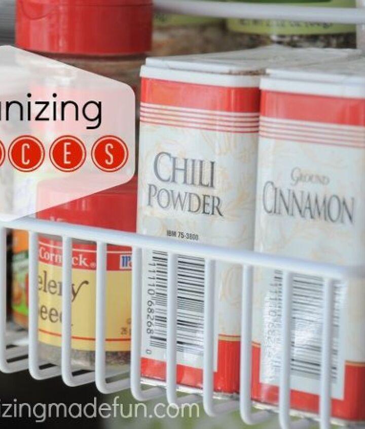 organized spice rack, organizing, storage ideas