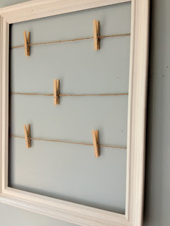 Add clothespins to the twine.