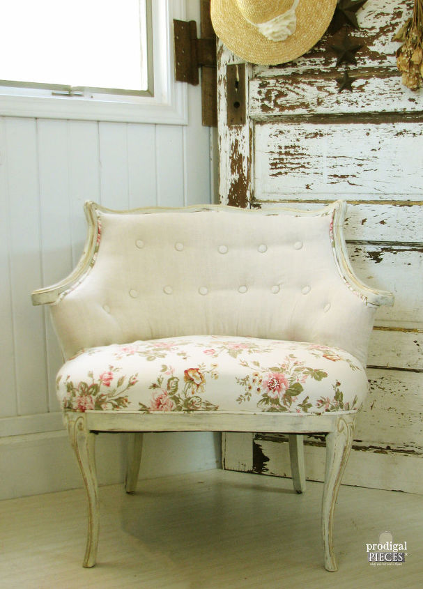 Linen Roses Antique Chair Makeover Hometalk - Diy Antique Chairs - DIY Ideas