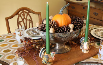 Vintage Inspired Thanksgiving Table Brought To You By The Thrift Store