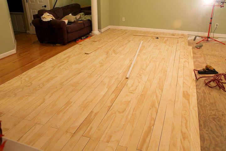 Laying Plywood Floors Hometalk - Faux wood floor plywood flooring