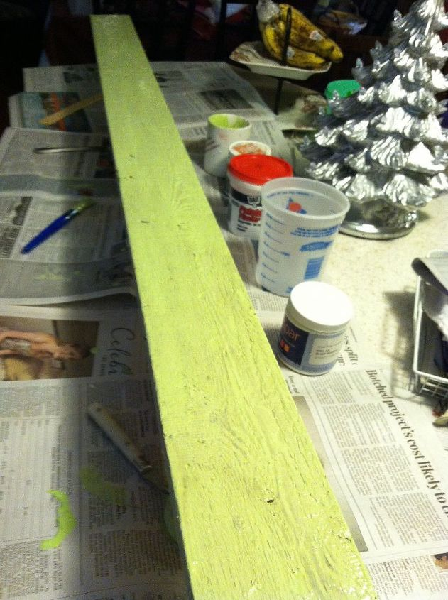 Brush Meadow paint for first coat and and if it works a cream color for second coat. Wish me luck !