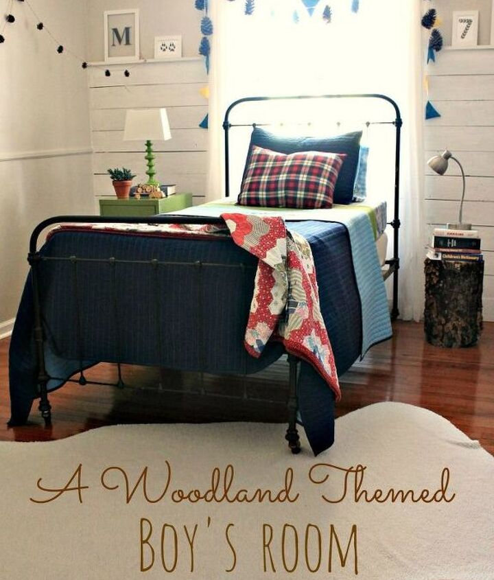 create woodland themed boy room, bedroom ideas, home decor