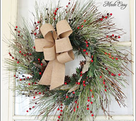 Beau Christmas Wreath, Christmas Decorations, Crafts, Seasonal Holiday Decor,  Wreaths, I Added