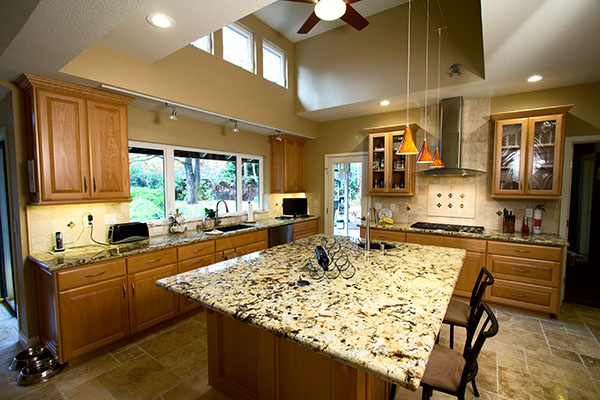 new photos of my recently completed kitchen remodel, craft rooms, doors, home improvement, home office, kitchen backsplash, kitchen, Here s the finished product Complete with a new raised ceiling shed dormer