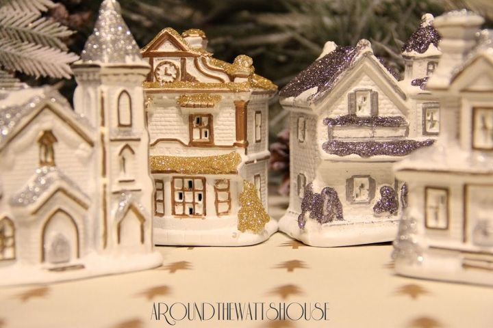 pottery barn inspired christmas village how to, christmas decorations, crafts, seasonal holiday decor