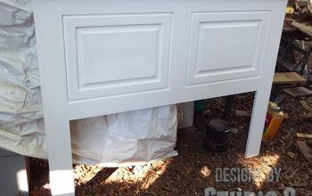 Build a Headboard Using Old Cabinet Doors