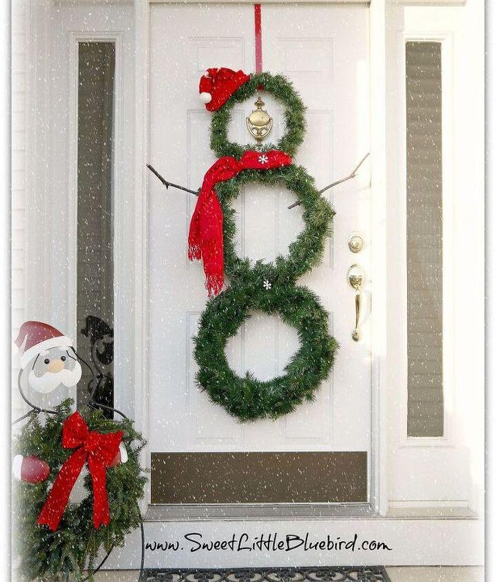 diy snowman wreath, crafts, seasonal holiday decor, wreaths