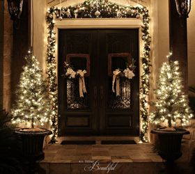 Delicieux Christmas Porch And Front Door Garland Diy, Christmas Decorations, Curb  Appeal, Doors,
