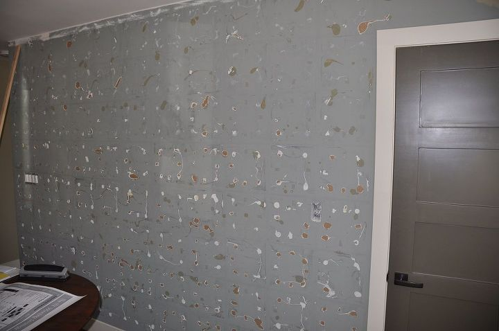laminate flooring wall, wall decor, woodworking projects, After the mirrors and poorly installed flooring was removed
