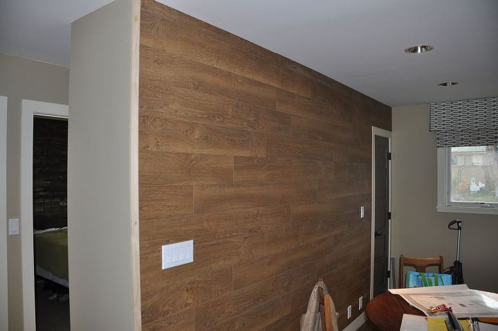 Laminate Flooring Wall Hometalk, How To Apply Laminate Flooring To Walls