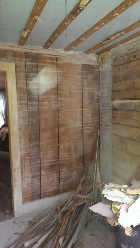 q i found these walls behind some plaster can you help, diy, how to, woodworking projects