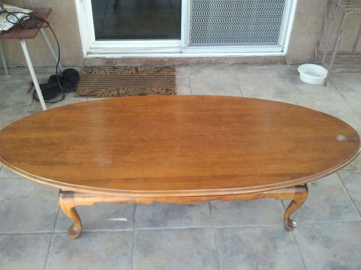 Birch coffee table before