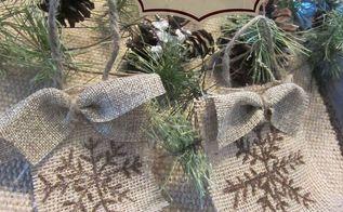 how to make a snowflake burlap christmas ornament, christmas decorations, seasonal holiday decor