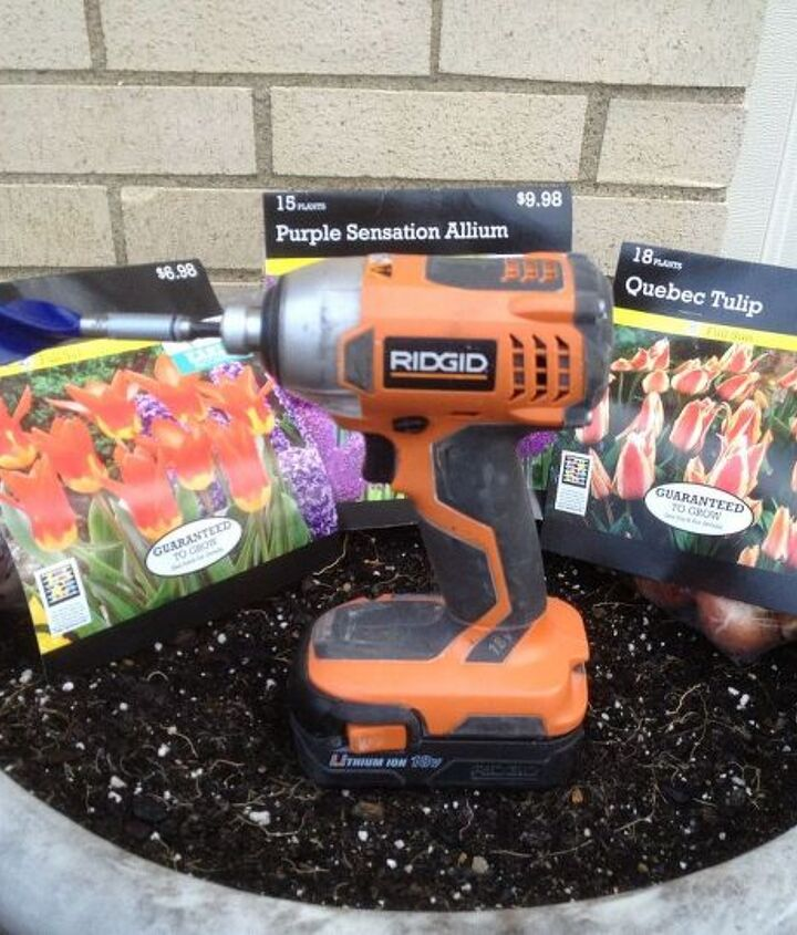 Use your drill or impact driver to  quickly plant flower bulbs.