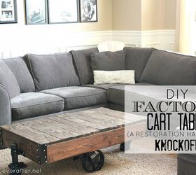 Diy Factory Cart Table A Restoration Hardware Knockoff, Painted Furniture,  Repurposing Upcycling, Woodworking GFI