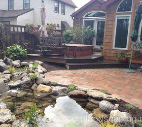 Water Garden Pond Landscape Design Lighting Paver Patio Renovation In  Rochester Ny, Concrete Masonry,