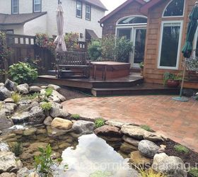 Water Garden Pond Landscape Design Lighting Paver Patio Renovation In  Rochester Ny, Concrete Masonry,