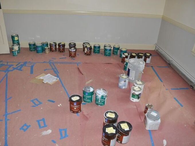 proper paint protocol, painting, labeled paint 35 gallons worth