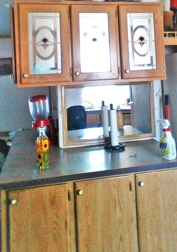 Paint Mobile Home Cabinets Hometalk - Mobile home bathroom cabinets