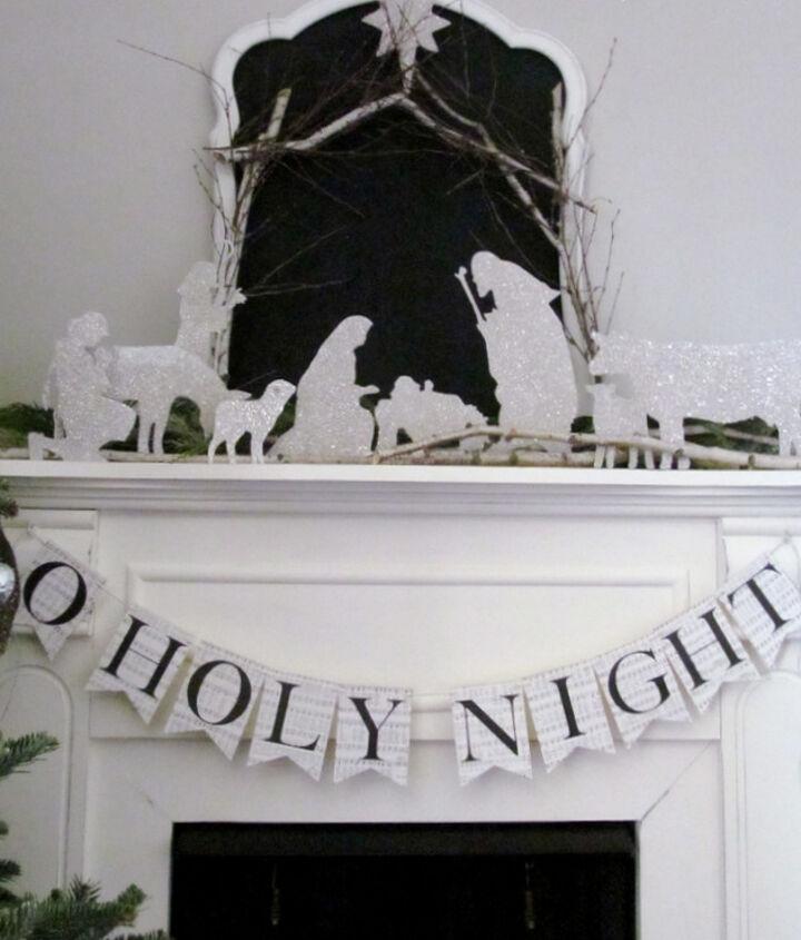DIY Silhouette Nativity.