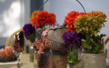 Burlap and Vintage Inspired Thanksgiving Tablescape