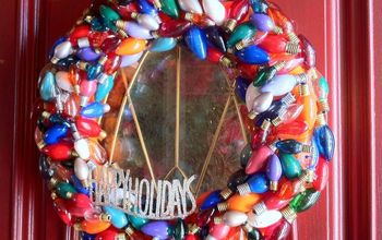 Christmas Wreath made from Burnt Out Christmas Lights